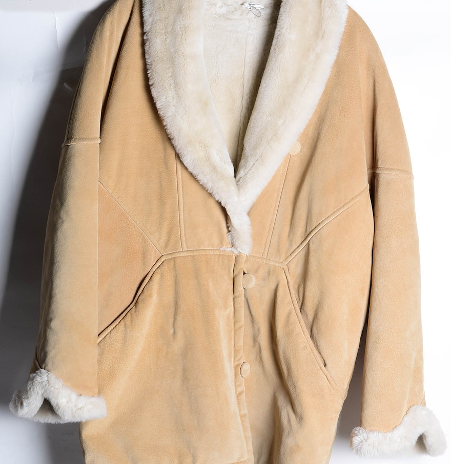 Vintage Women's J. Percy for Marvin Richards Suede Leather Coat : EBTH