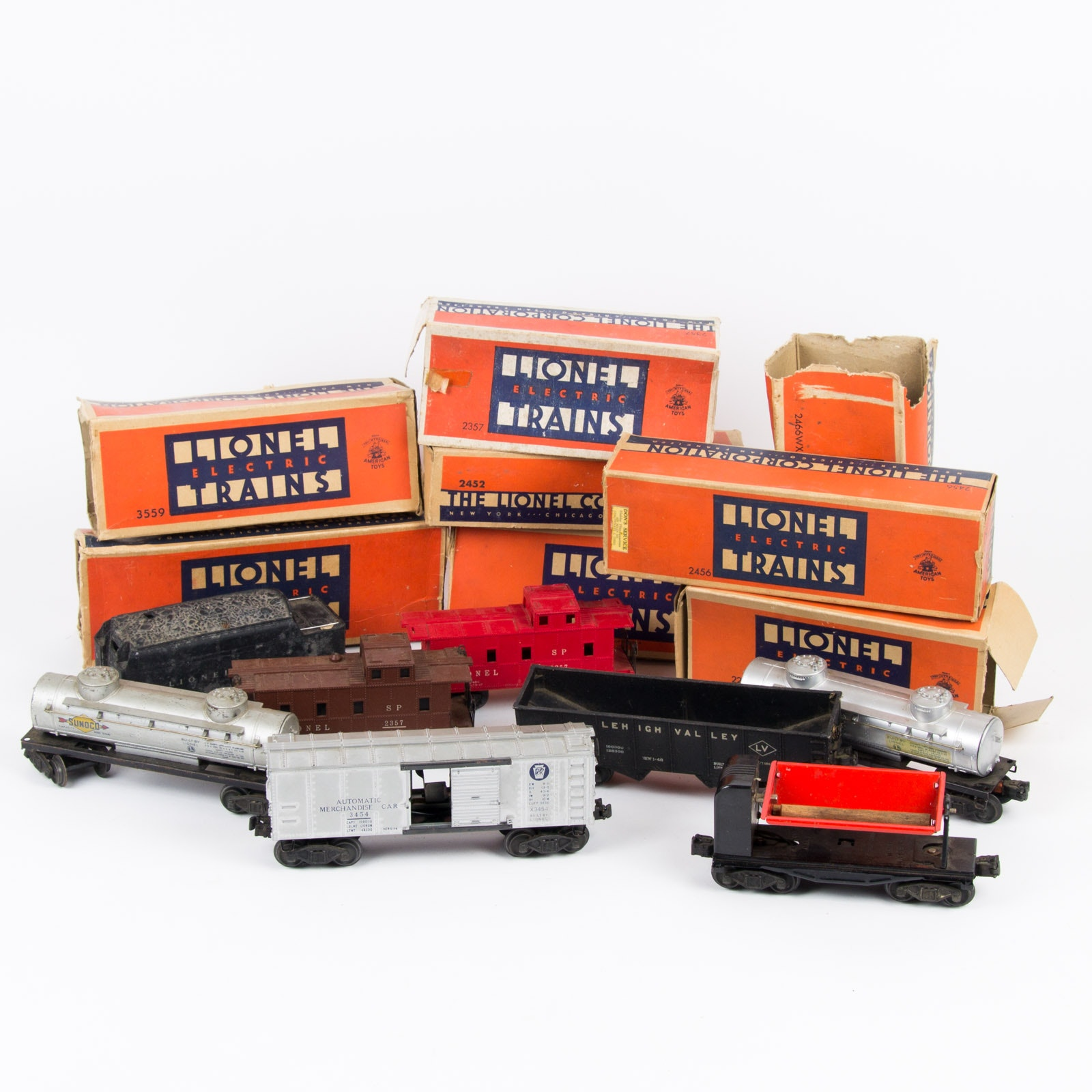Vintage Lionel Train Assortment with Original Boxes