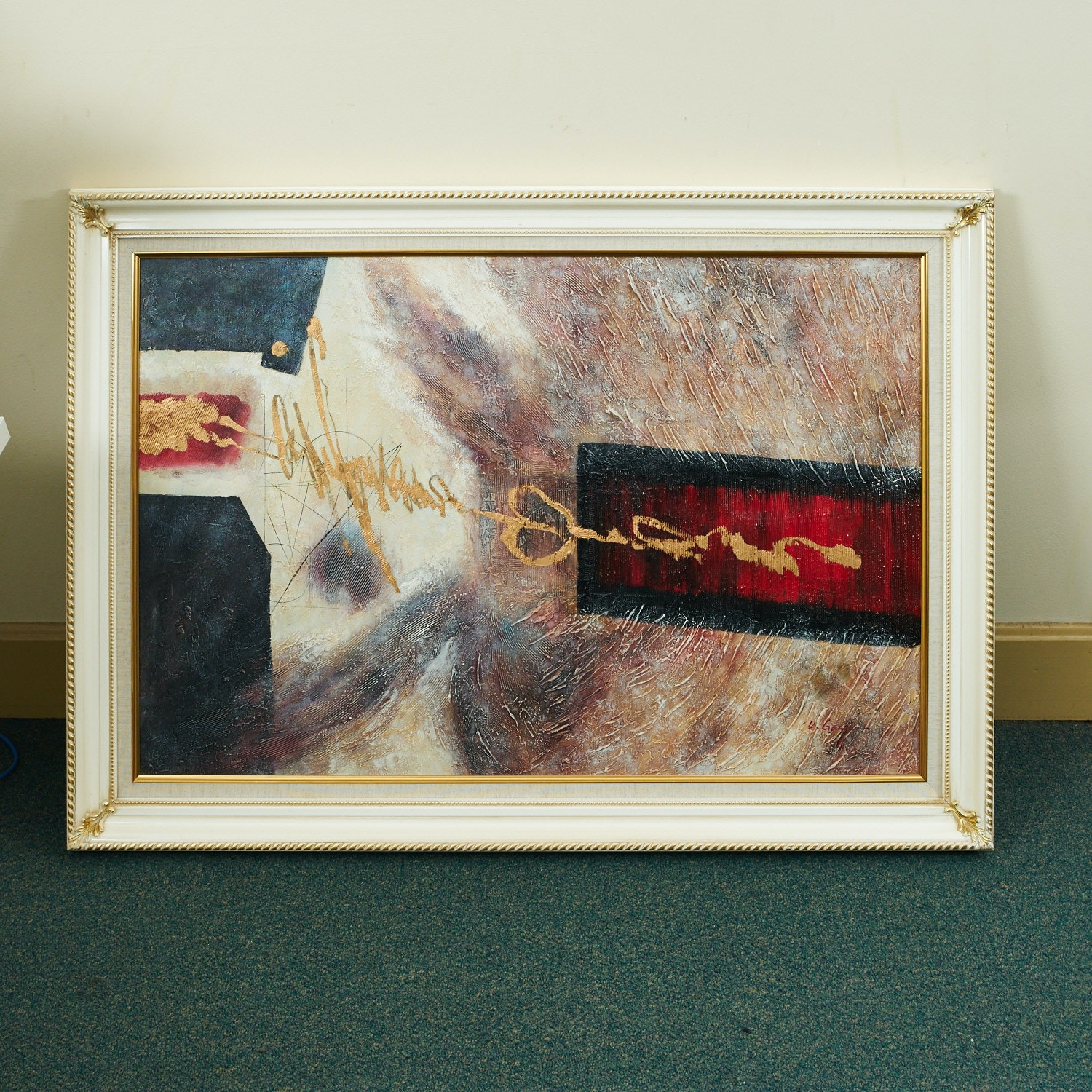 Original Framed Abstract Oil Painting