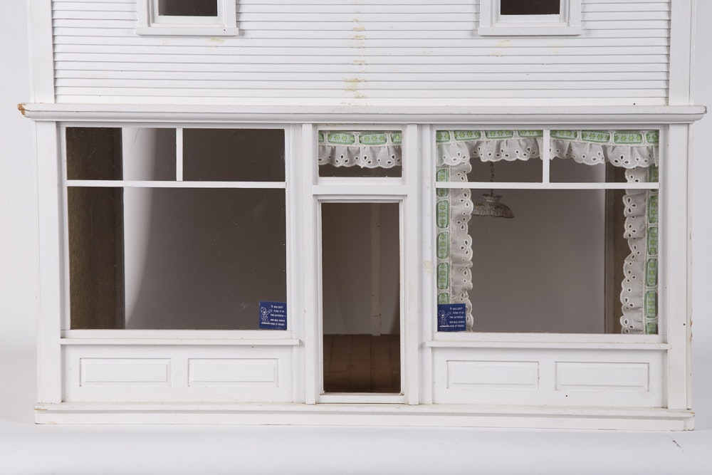 White Painted Storefront Dollhouse Ebth