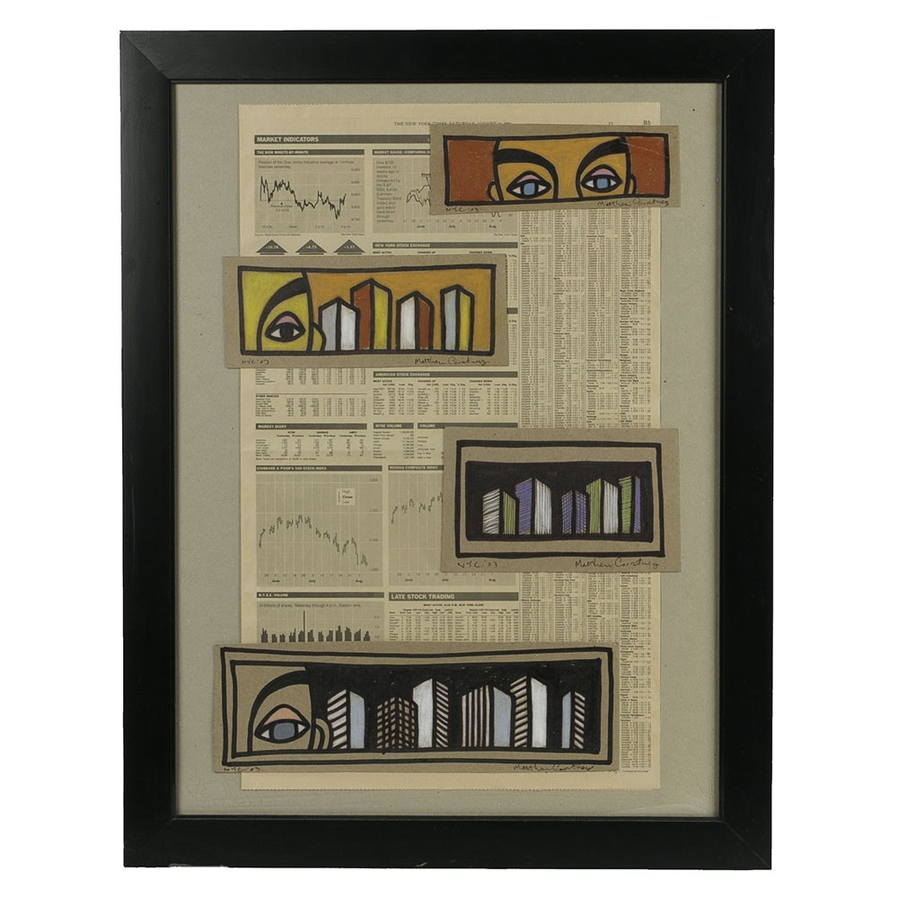 Matthew Courtney Framed Mixed Media