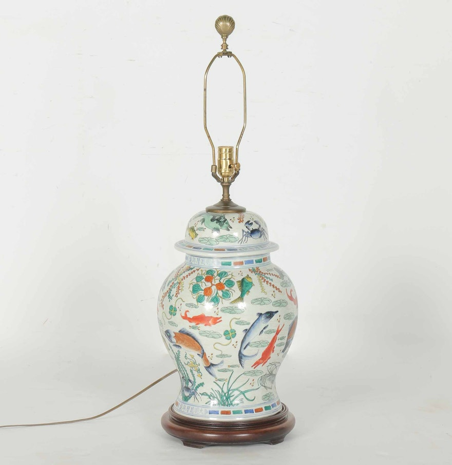 Ginger jar lamps zolt chinese ceramic ginger jar table lamp ebth geotapseo Images