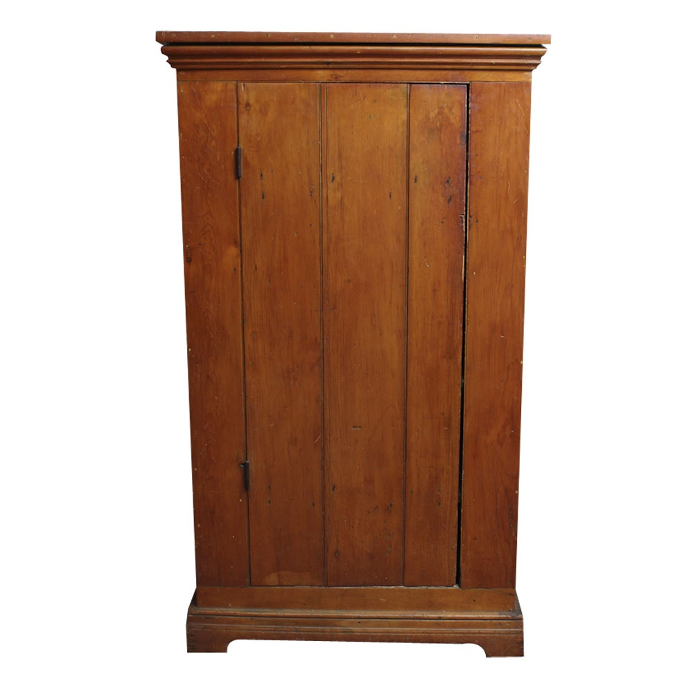 Antique Pine Jelly Cupboard Ebth