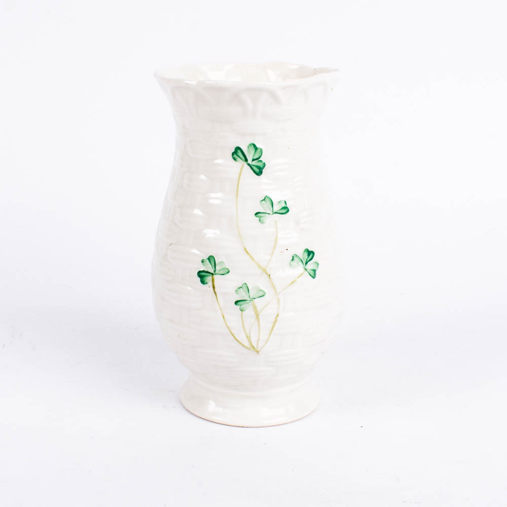 "Belleek ""Shamrock"" Vase"