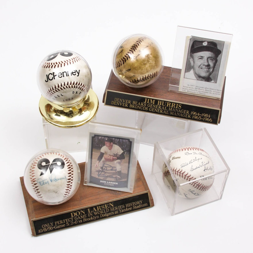 eb3a13d353c Collection of Autographed Denver Bears Baseballs   EBTH