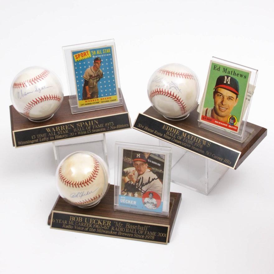 38308a5338c Milwaukee Braves Autographed Baseball Collection   EBTH