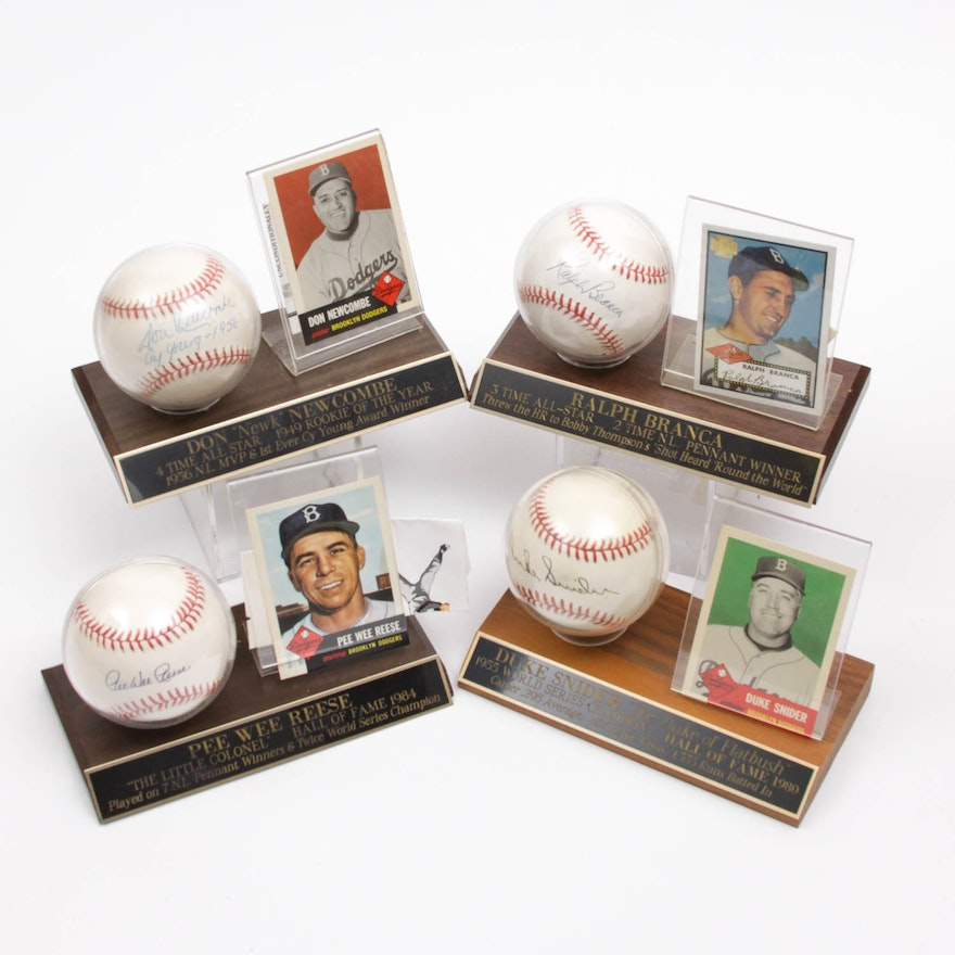 21f246a192e Brooklyn Dodgers Autographed Baseball Collection   EBTH