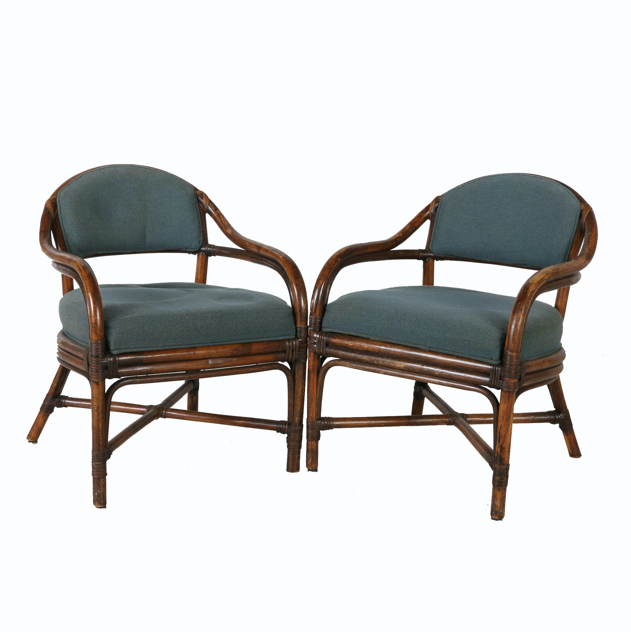 Late 20th Century Rattan Lounge Chairs
