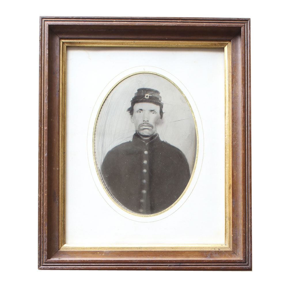 Large Tintype of a Union Soldier