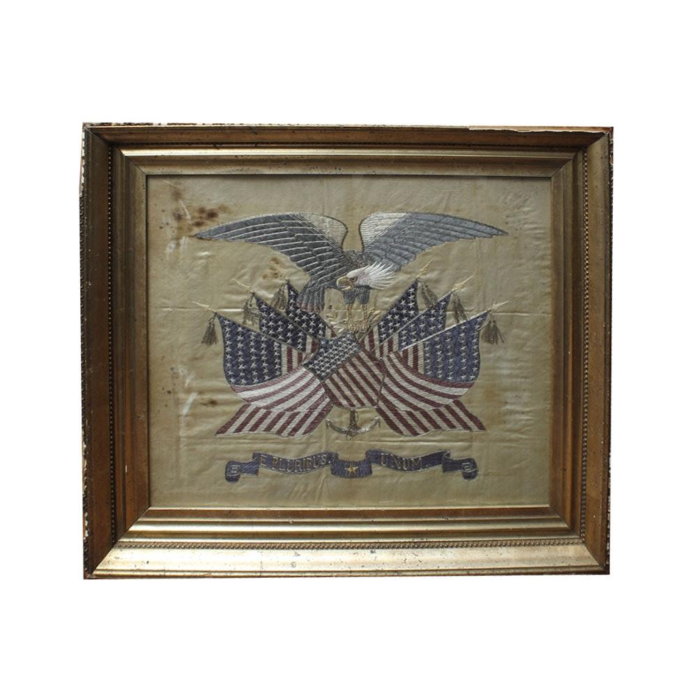 Antique Commemorative Naval Flag