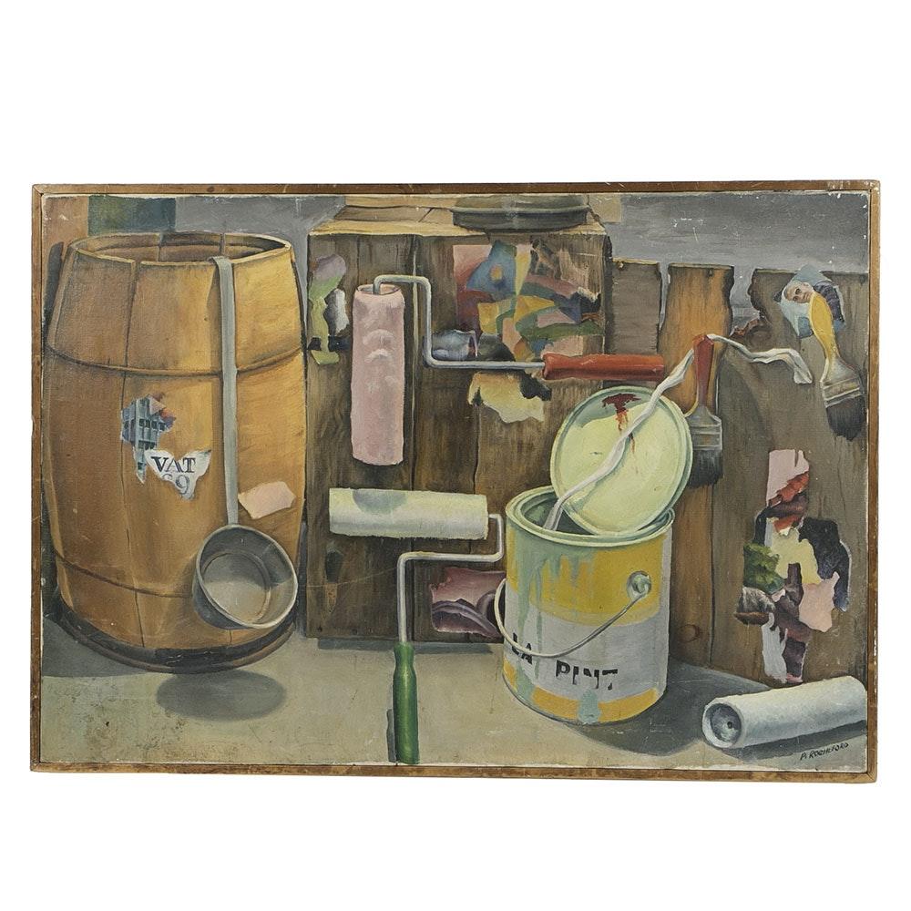 P. Rocheford Mid-Century Oil on Canvas