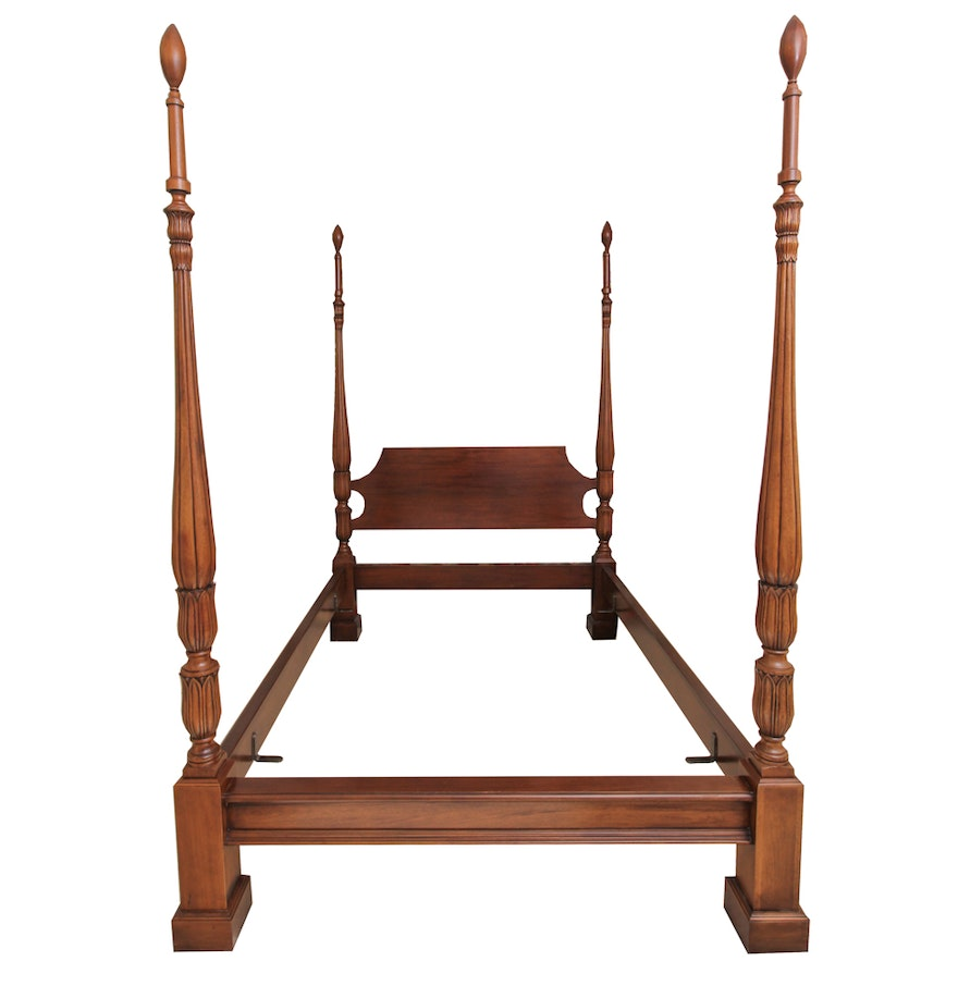 Queen size wooden poster bed frames