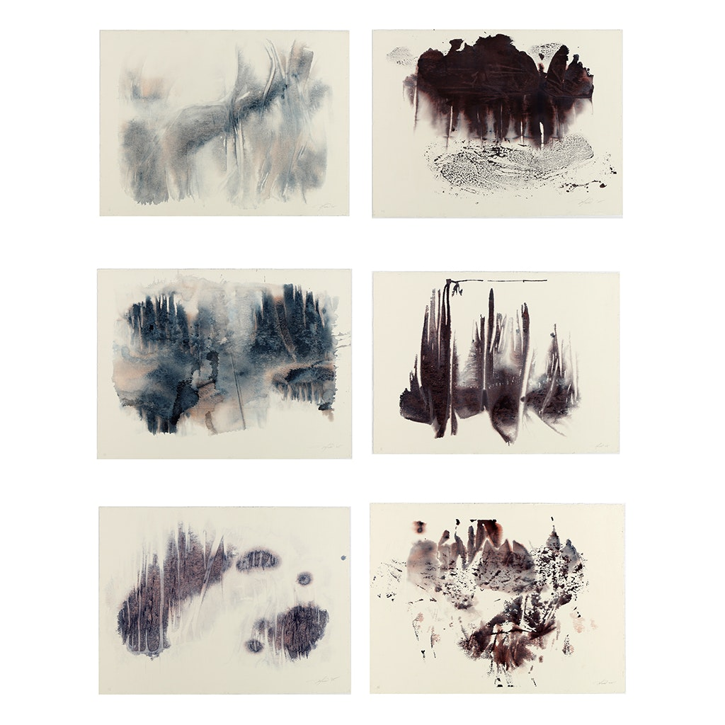 "Ricardo Morin Complete Series of Watercolor Paintings on Paper ""Inf_landscapes"""