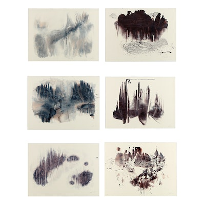 """Ricardo Morin Complete Series of Watercolor Paintings on Paper """"Inf_landscapes"""""""