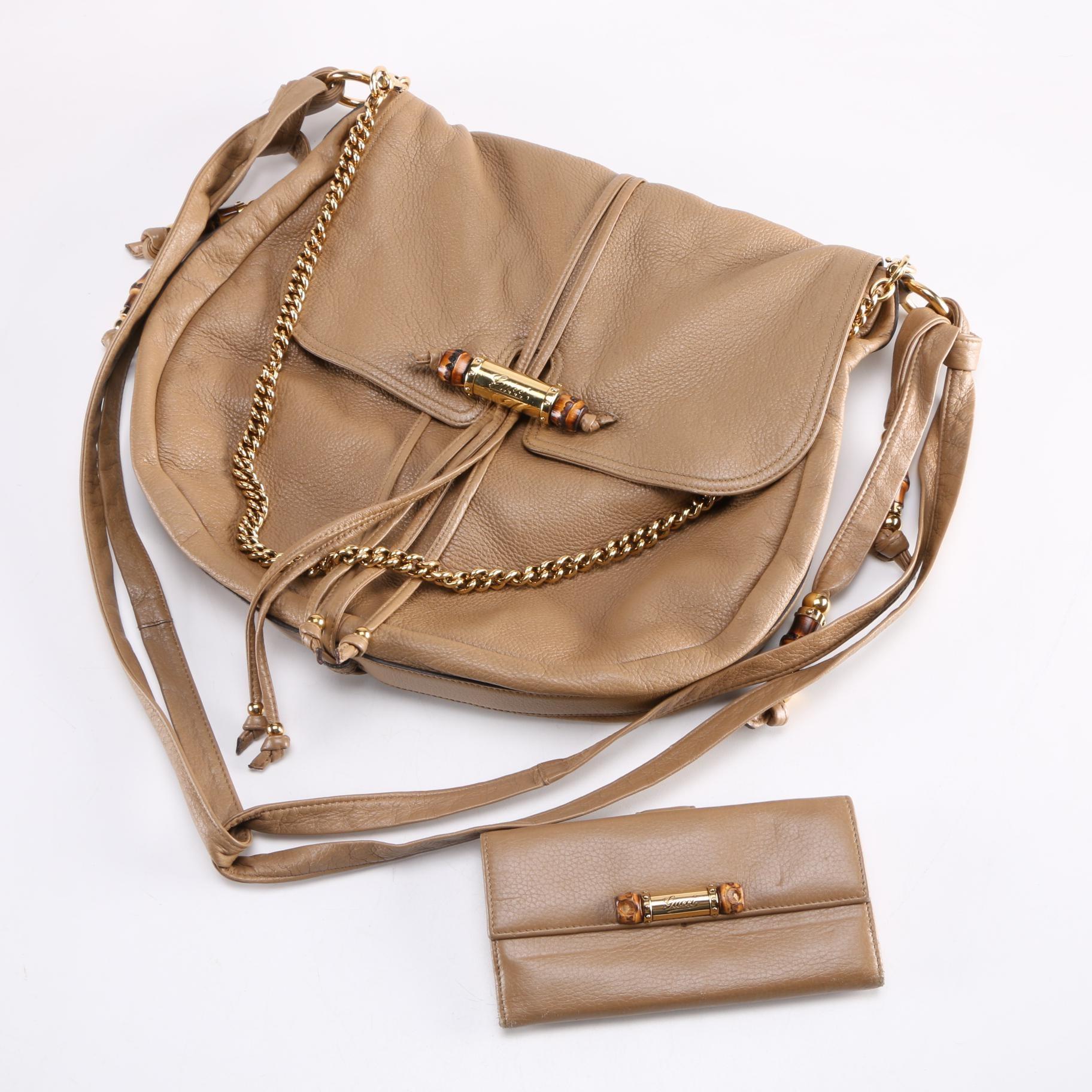 "Gucci ""Jungle Grande"" Leather Handbag and Wallet"