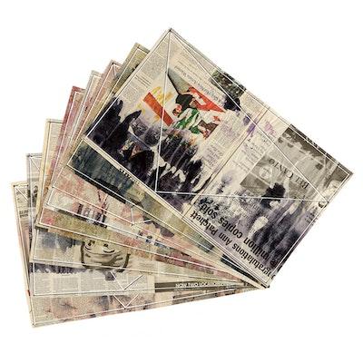 """Ricardo Morin Mixed Media """"Newsprint Series Nº 2"""""""