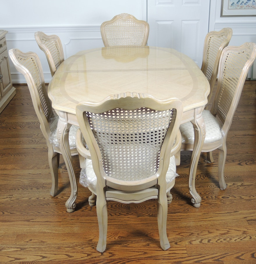 Thomasville French Provincial Style Dining Table And Six Chairs EBTH