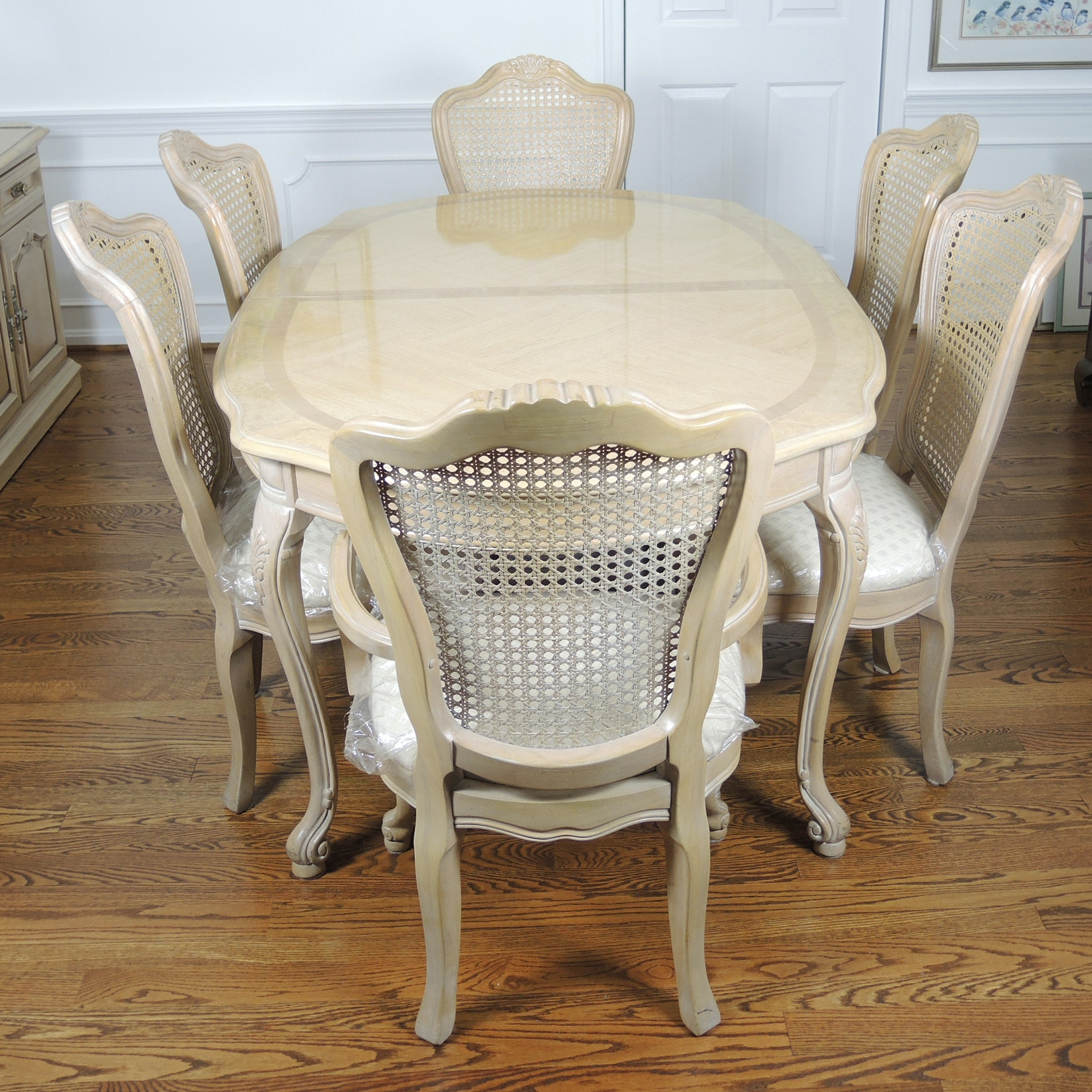 Thomasville French Provincial Style Dining Table And Six Chairs ...