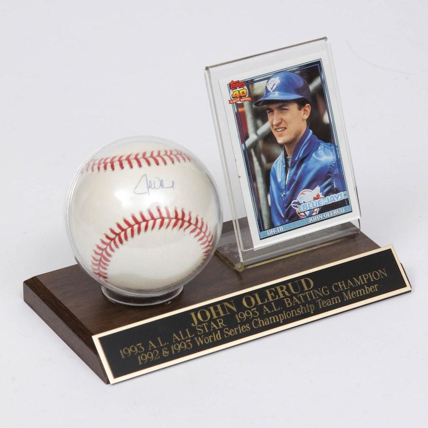 a518fe4bfe9 John Olerud Autographed Baseball Display   EBTH