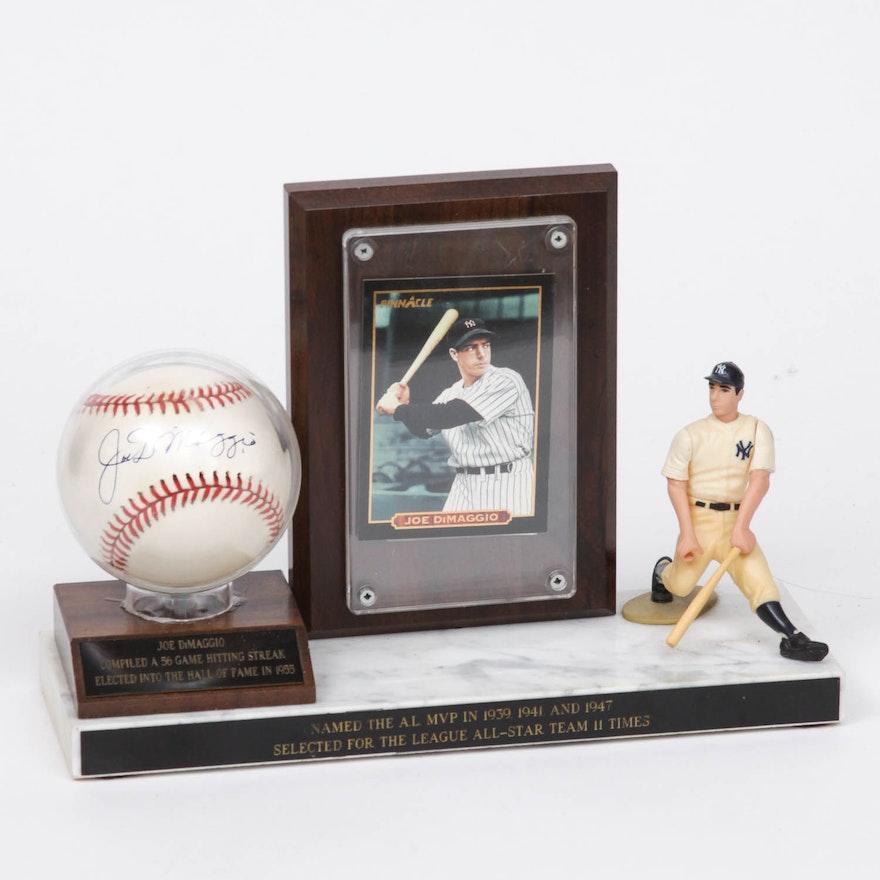 0717b0139db Joe DiMaggio MVP Memorabilia with Signed Baseball   EBTH