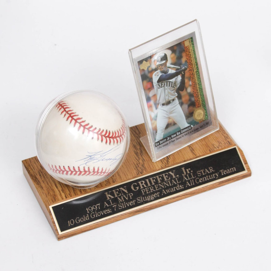 f9d2968140e Ken Griffey Jr. Autographed Baseball Display   EBTH