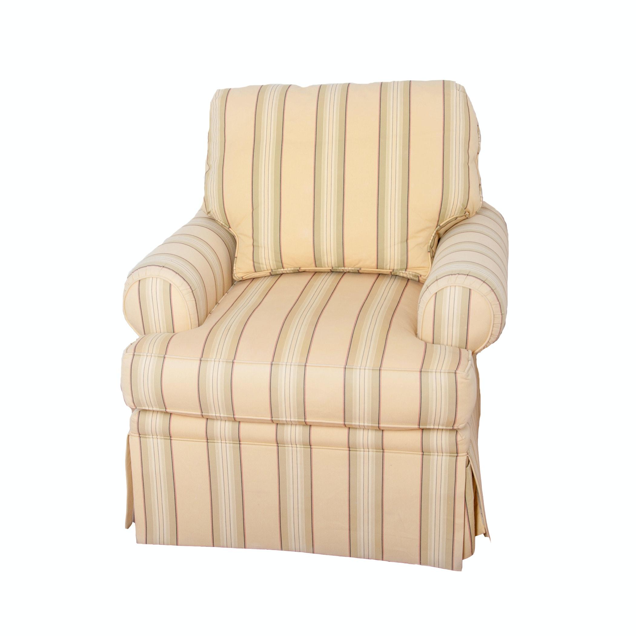 Yellow Striped Club Chair