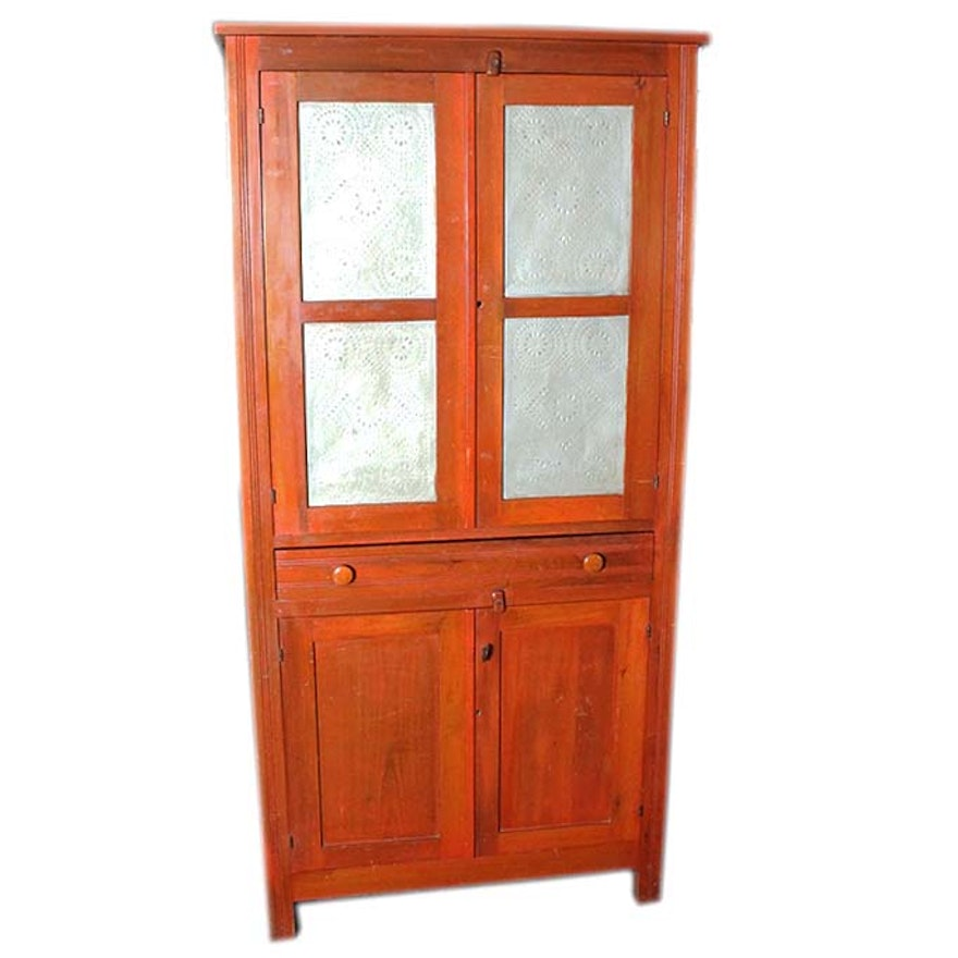 Antique Southern Cherry Pie Safe Cabinet ... - Antique Southern Cherry Pie Safe Cabinet : EBTH
