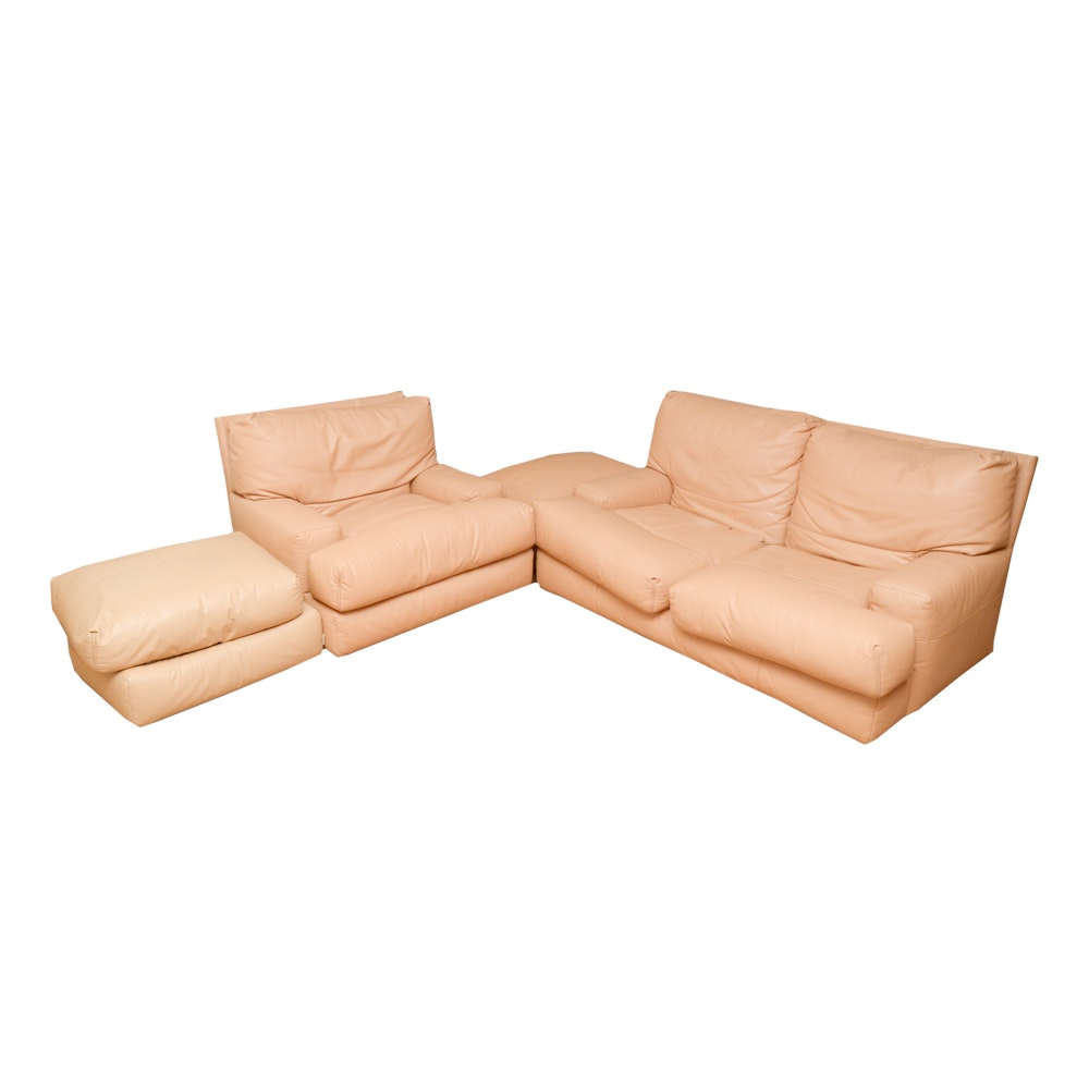 Contemporary Leather Sectional Sofa by Ligne Roset