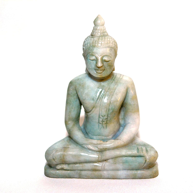 Jadeite Meditating Buddha Figurine