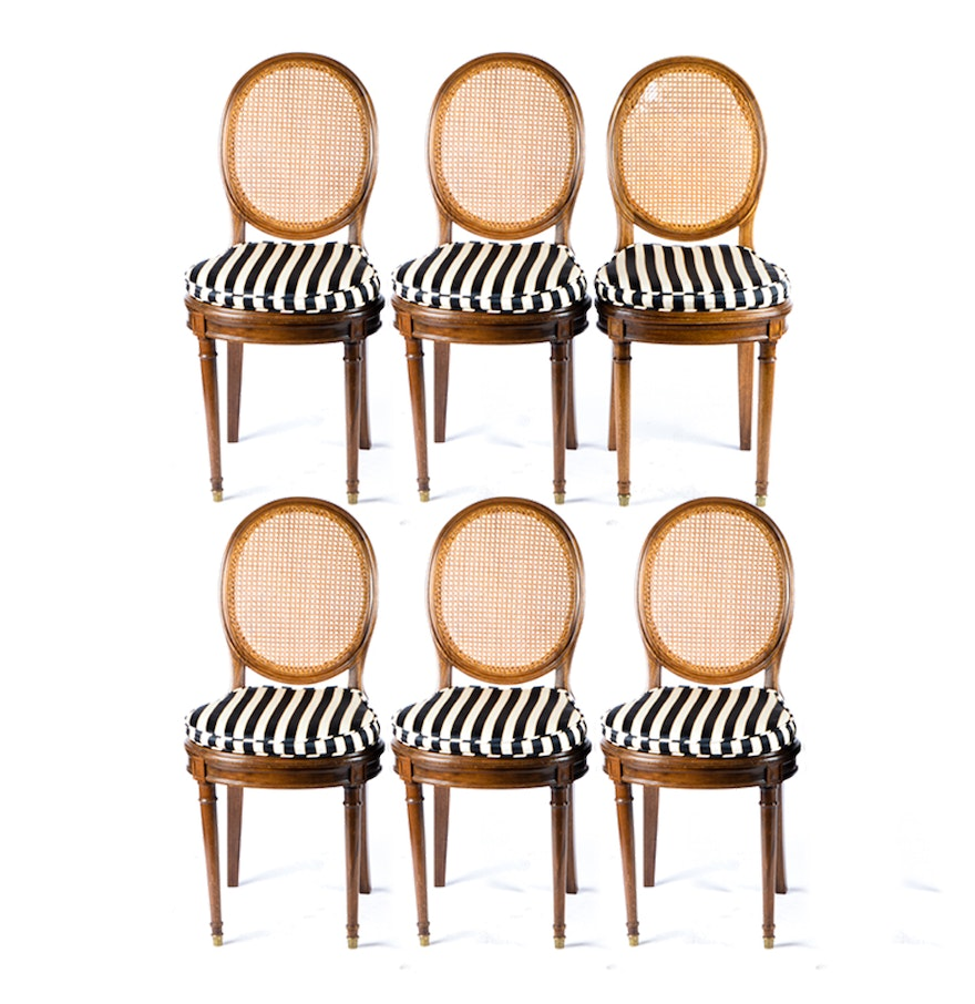 Cane chairs with cushions - Henri Bonjour Cane Chairs With Cushions
