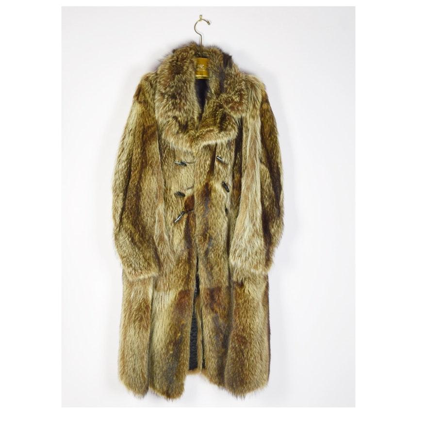 bee2dac4042e Mens Full Length Raccoon Coat from Quebec Furrier   EBTH