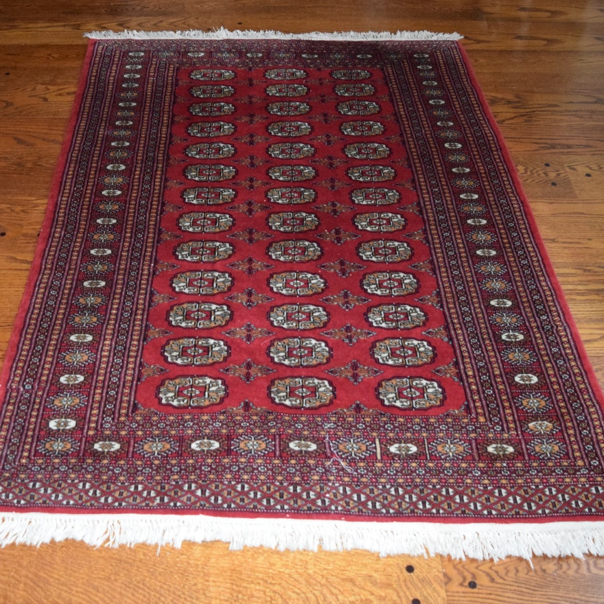 Persian Bokhara Hand Knotted Wool Area Rug: Khan Oriental Hand Knotted All Wool Bokhara Rug