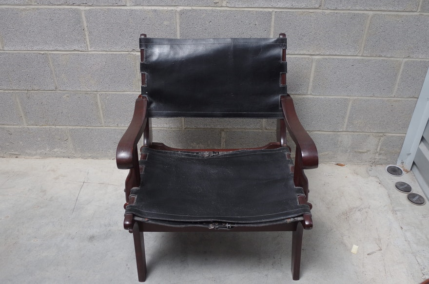 leather plantation chair and ottoman british colonial augusto teak