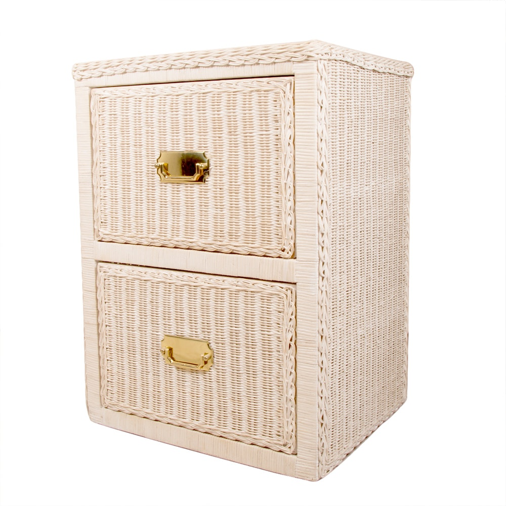 Wicker Filing Cabinet ...