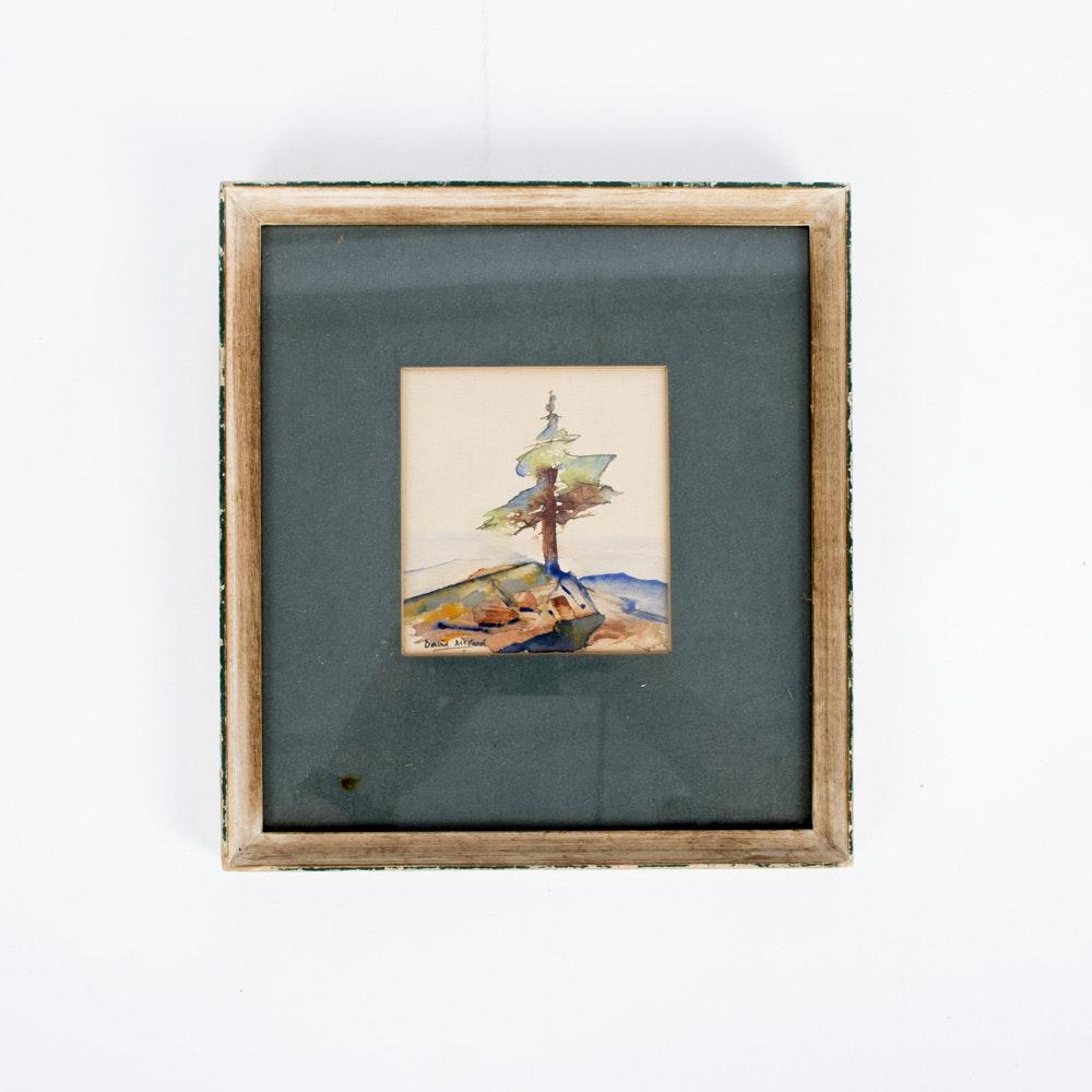 David McCord Original Landscape Watercolor