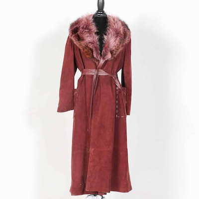 67e4775304d Charlotte s-West of Akron Suede and Fox Fur Coat
