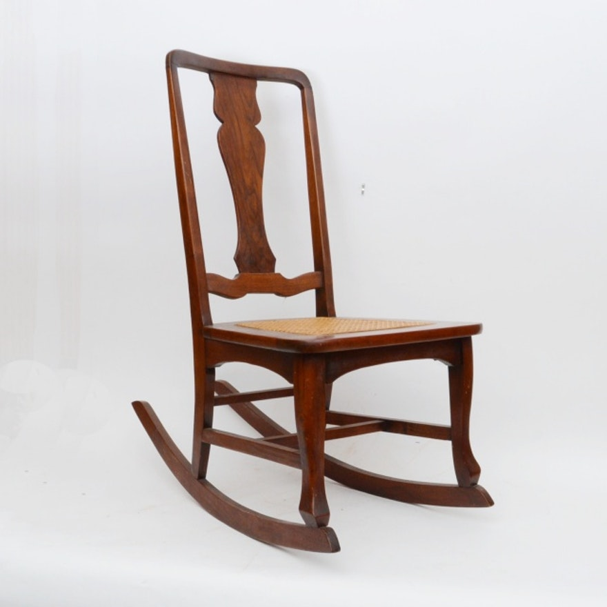 Sensational Vintage Queen Anne Style Rocking Chair Gamerscity Chair Design For Home Gamerscityorg