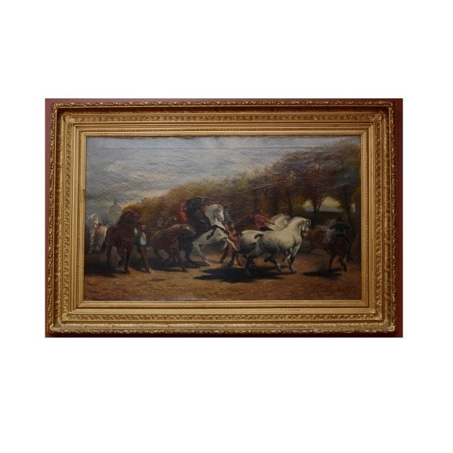 Late 18th C. Oil on Canvas, Paul Powis