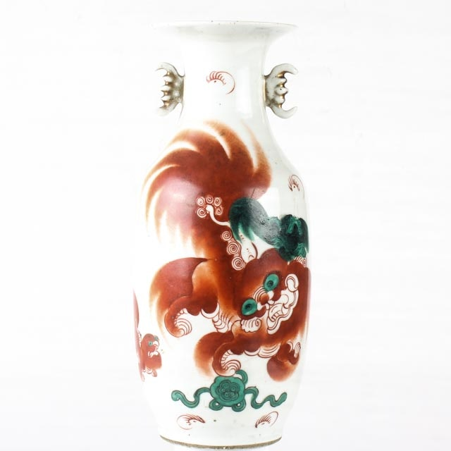 Late 19th Century Artist Signed Chinese Vase