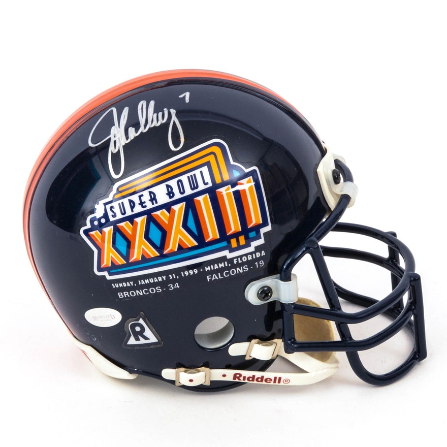 f53332b74 John Elway Superbowl XXXIII Autographed Mini Helmet   EBTH