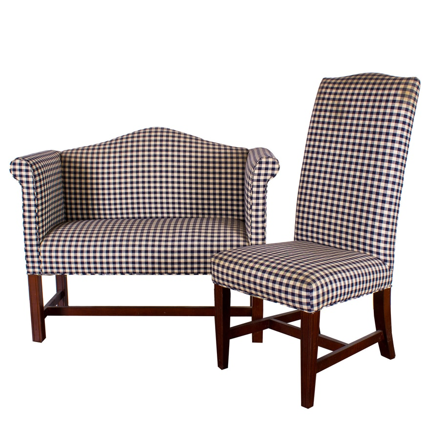 Pair Of Johnston Benchworks Upholstered