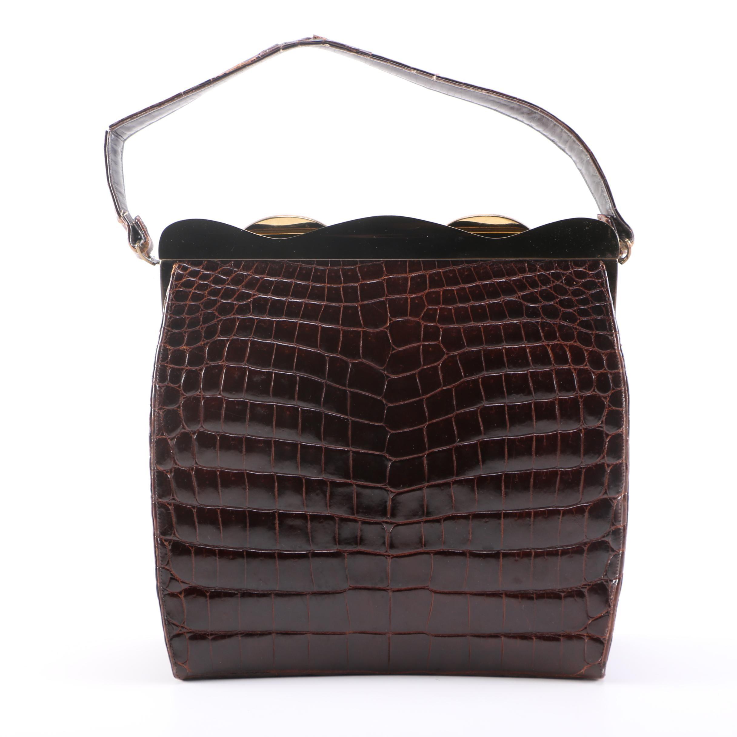 Vintage Rosenfeld Alligator Bag with Coin Purse
