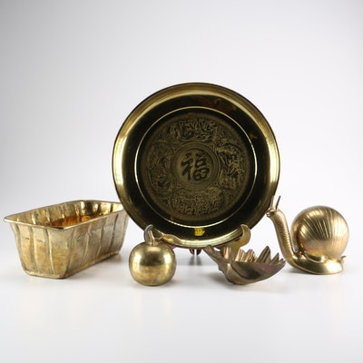 Collection Of Brass D Cor Items