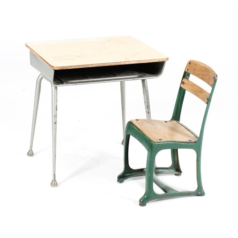 Vintage School Desk and Child's Chair