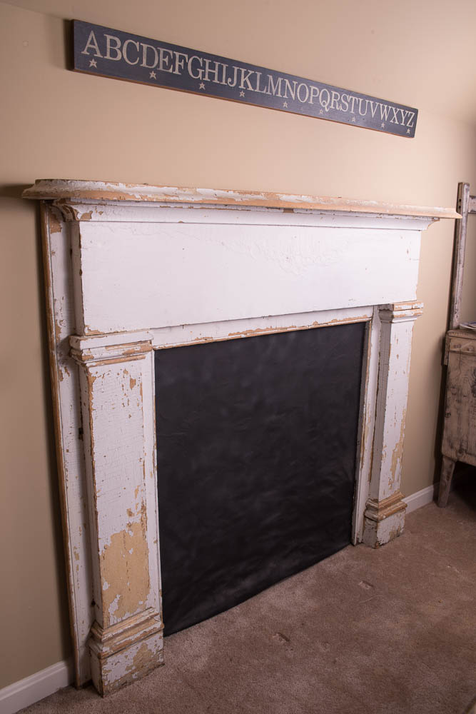 antique faux fireplace mantel ebth Fireplace Electric Faux Brick Antique Fireplace Mantel Shelf