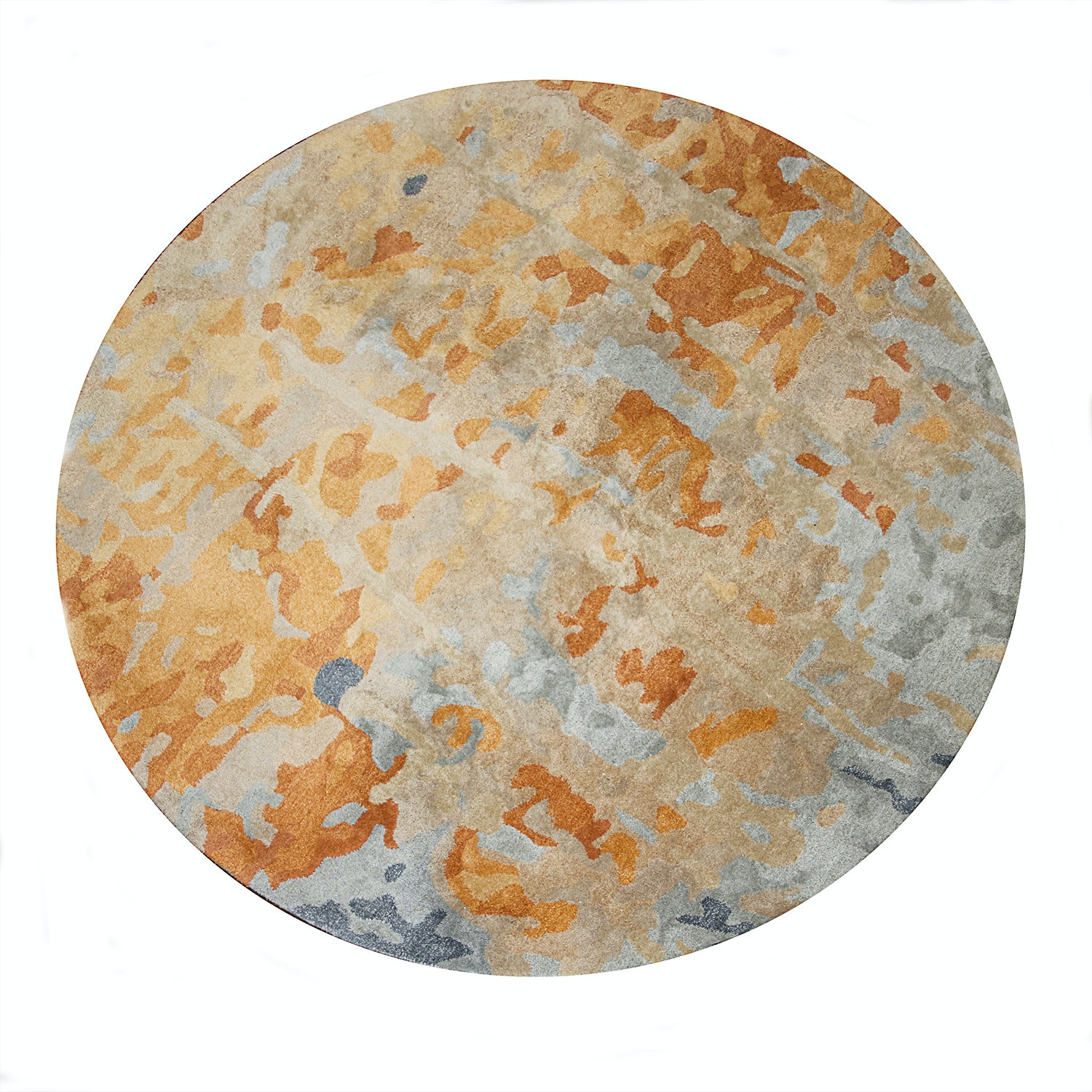 "Home Decorators Collection Round ""Watercolor"" Area Rug EBTH"