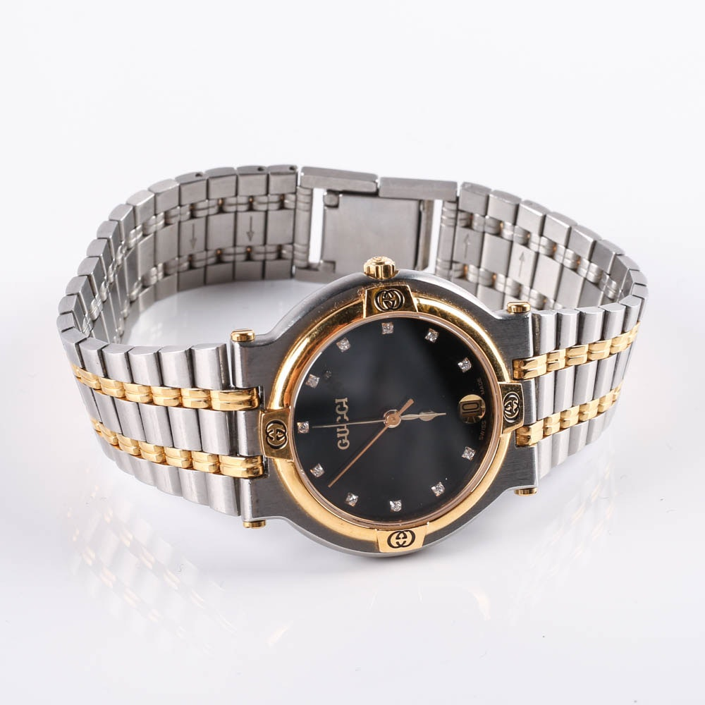 Women's Gucci Stainless Steel and Gold Plated Wristwatch
