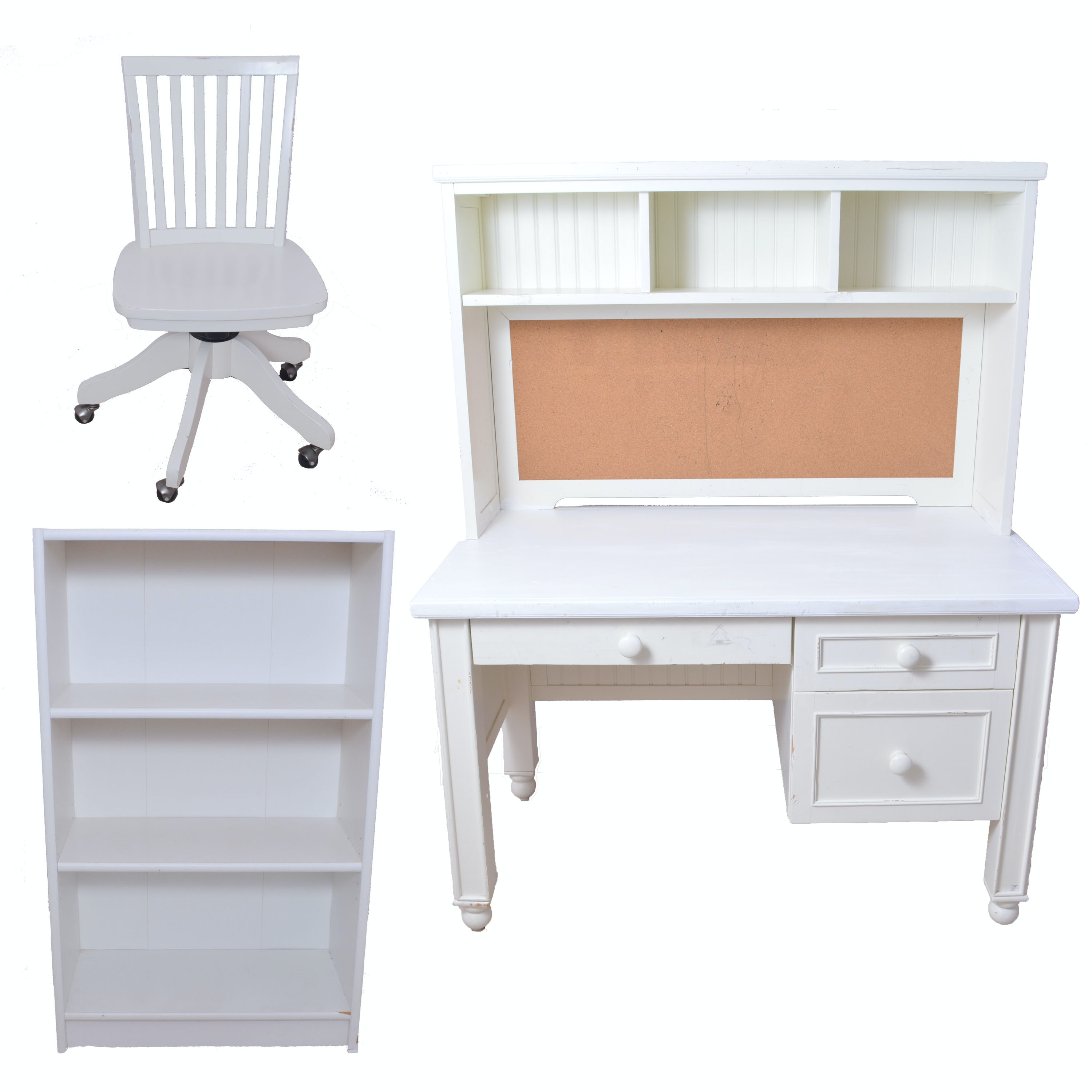 Pottery Barn Kids Desk With Matching Chair And Bookshelf Ebth
