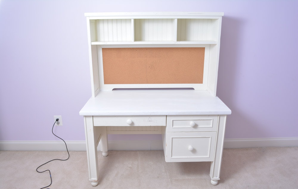 Pottery Barn Kids Desk With Matching Chair And Bookshelf