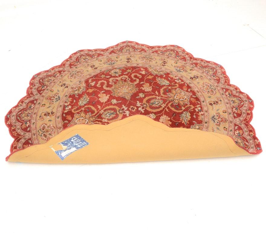 Persian Style Wool Area Rug Ebth: Rug Gallery Round Scalloped Persian Style Wool Rug
